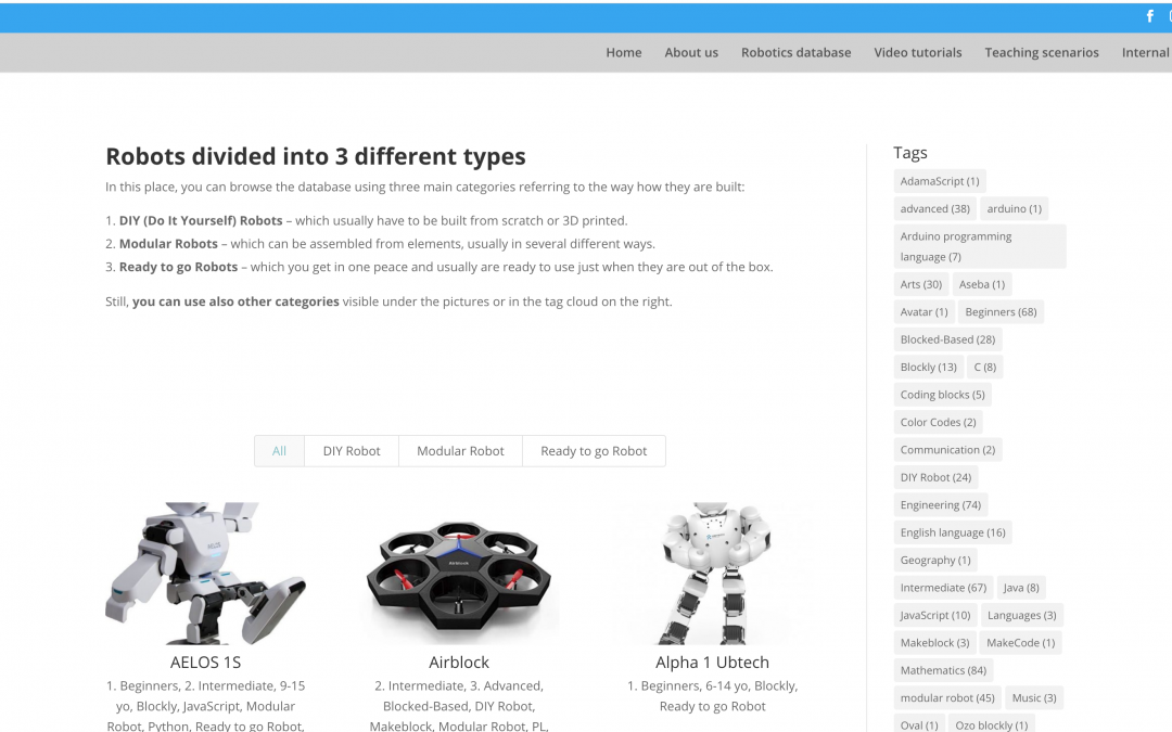 Our robotics database is ready!